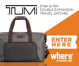 Enter to win a Double Expansion TUMI Travel Satchel